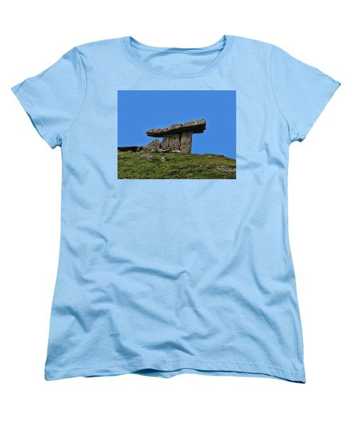 Women's T-Shirt (Standard Cut) featuring the photograph Poulnabrone Dolmen by David Gleeson