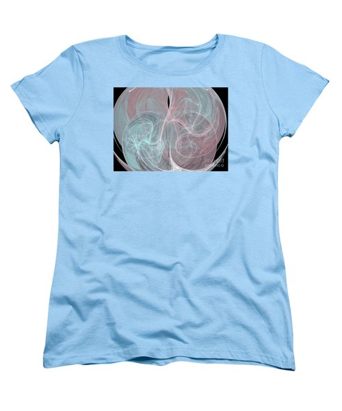 Women's T-Shirt (Standard Cut) featuring the digital art Quadrant by Kim Sy Ok
