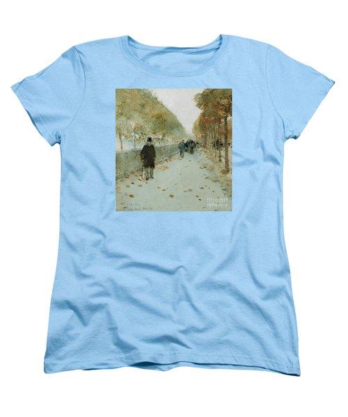 Quai Du Louvre Women's T-Shirt (Standard Cut) by Childe Hassam