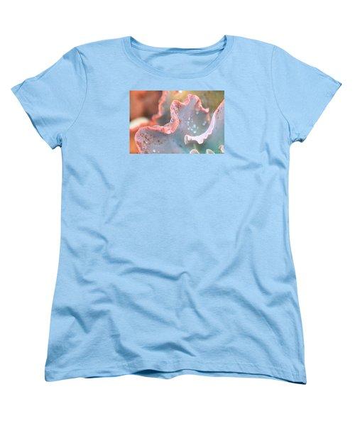 Rain Drops Of Colors Women's T-Shirt (Standard Cut) by Amy Gallagher