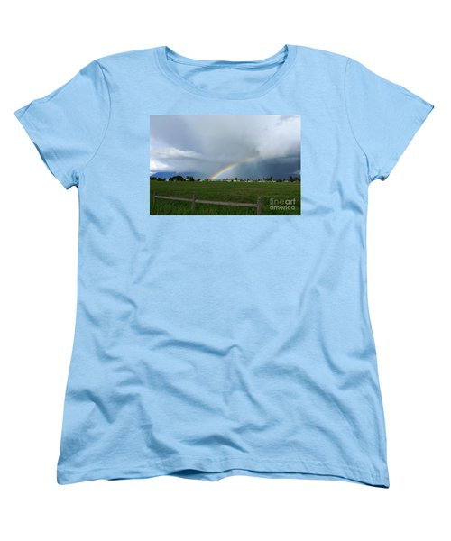 Rainbow Before The Storm Women's T-Shirt (Standard Cut) by Nina Prommer