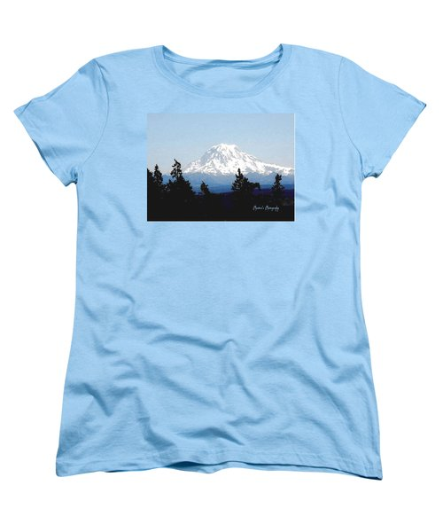 Rainier Reign Women's T-Shirt (Standard Cut) by Sadie Reneau