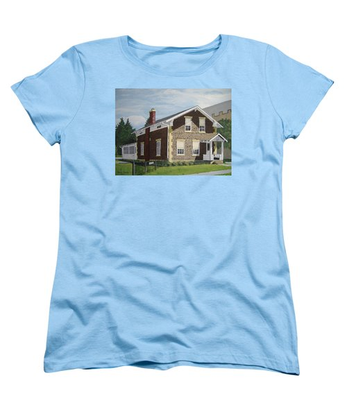 Women's T-Shirt (Standard Cut) featuring the painting Rasey House by Norm Starks
