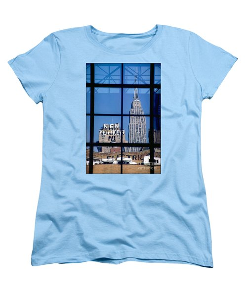 Reflection Empire State Building Women's T-Shirt (Standard Cut) by Mark Gilman