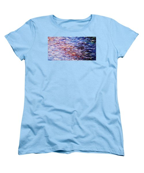 Women's T-Shirt (Standard Cut) featuring the painting Reflections by Kume Bryant