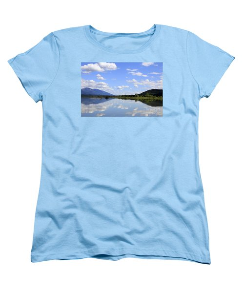Women's T-Shirt (Standard Cut) featuring the photograph Reflections On Swan Lake by Nina Prommer