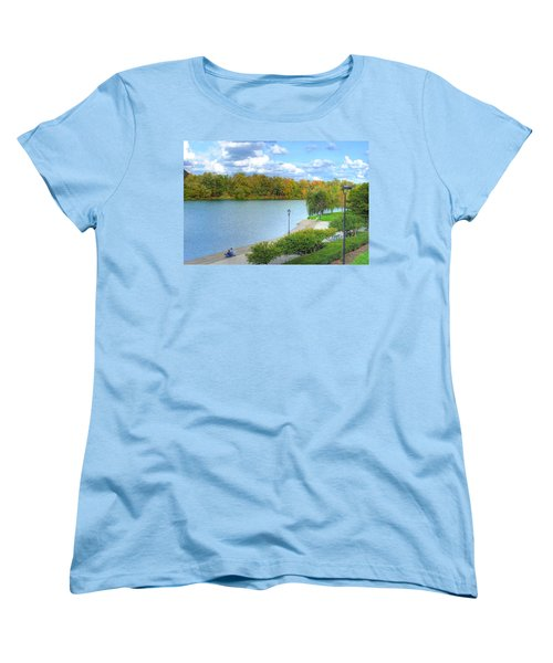 Women's T-Shirt (Standard Cut) featuring the photograph Relaxing At Hoyt Lake by Michael Frank Jr