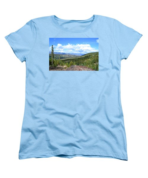 Women's T-Shirt (Standard Cut) featuring the photograph Rocky Mountain National Park2 by Zawhaus Photography