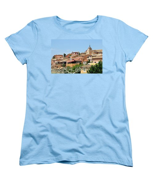 Women's T-Shirt (Standard Cut) featuring the photograph Roussillon In Provence by Carla Parris