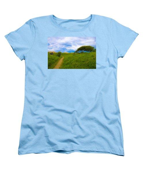 Rubjerg Path Women's T-Shirt (Standard Cut) by Mike Santis