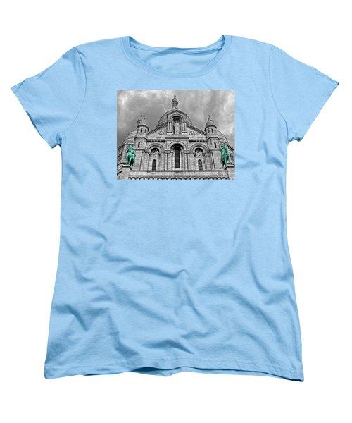 Women's T-Shirt (Standard Cut) featuring the photograph Sacre Coeur Montmartre Paris by Dave Mills