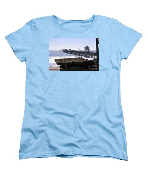 Women's T-Shirt (Standard Cut) featuring the photograph San Clemente Pier California by Clayton Bruster