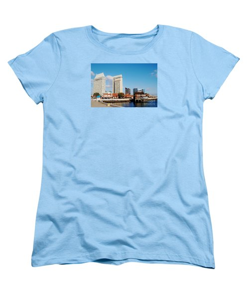 Women's T-Shirt (Standard Cut) featuring the photograph San Diego - Seaport Village by Jasna Gopic