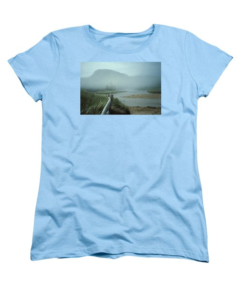 Sand Beach Fog Women's T-Shirt (Standard Cut) by Brent L Ander