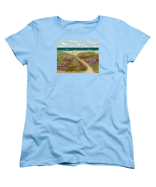 Sand Path Women's T-Shirt (Standard Cut) by Katherine Young-Beck