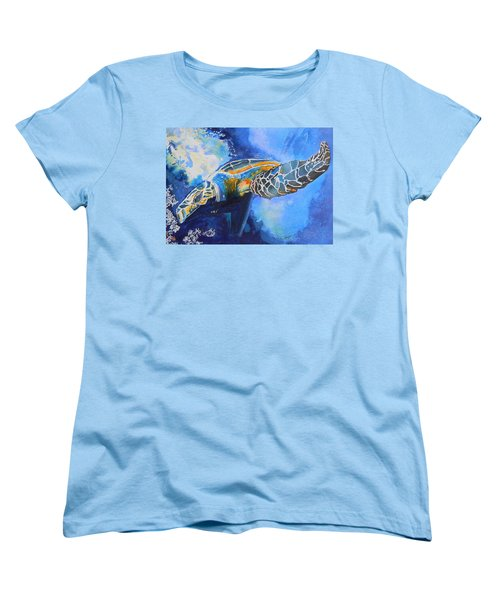 Save The Turtles Women's T-Shirt (Standard Cut) by Warren Thompson