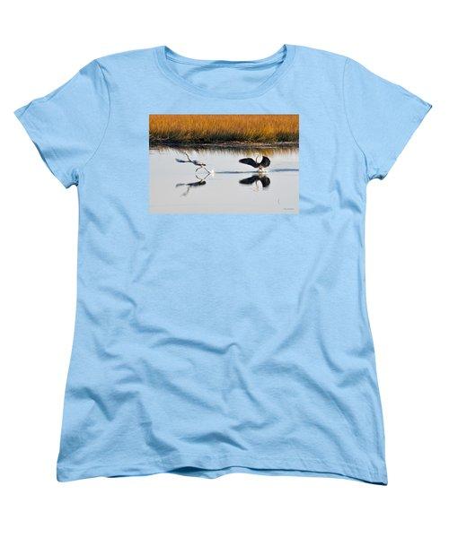 Women's T-Shirt (Standard Cut) featuring the photograph Scram by Kay Lovingood