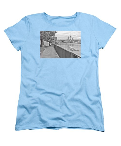 Women's T-Shirt (Standard Cut) featuring the photograph Seagull At The Naval And Military Park by Michael Frank Jr