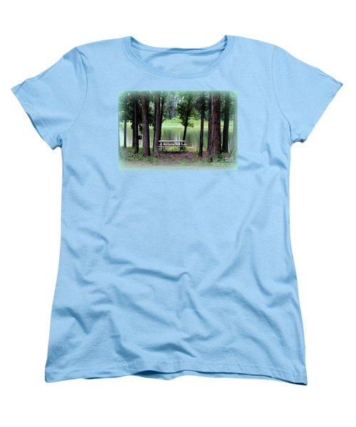 Women's T-Shirt (Standard Cut) featuring the photograph Serene Escape by Kathy  White