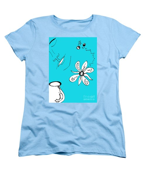 Serenity In Blue Women's T-Shirt (Standard Cut) by Mary Mikawoz