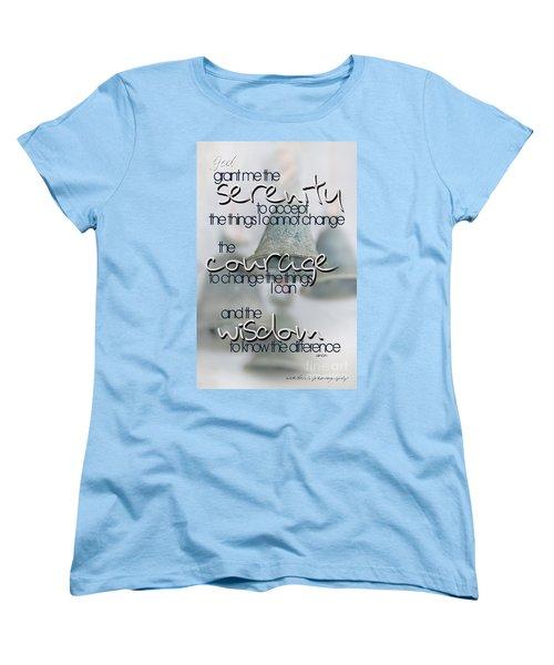 Serenity Prayer With Bells Women's T-Shirt (Standard Cut) by Vicki Ferrari