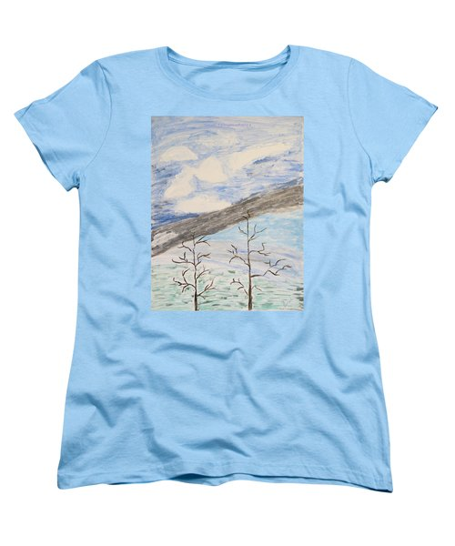 Women's T-Shirt (Standard Cut) featuring the painting Shades Of Nature by Sonali Gangane