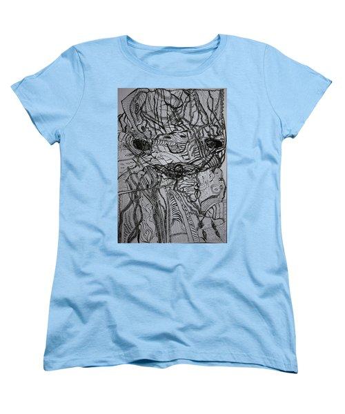Women's T-Shirt (Standard Cut) featuring the drawing Shango by Gloria Ssali