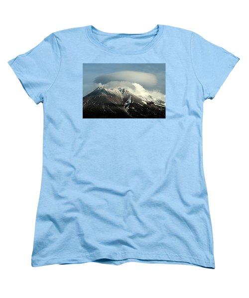 Women's T-Shirt (Standard Cut) featuring the digital art Shasta Lenticular 2 by Holly Ethan