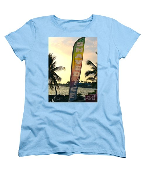 Shaved Ice Women's T-Shirt (Standard Cut) by Beth Saffer