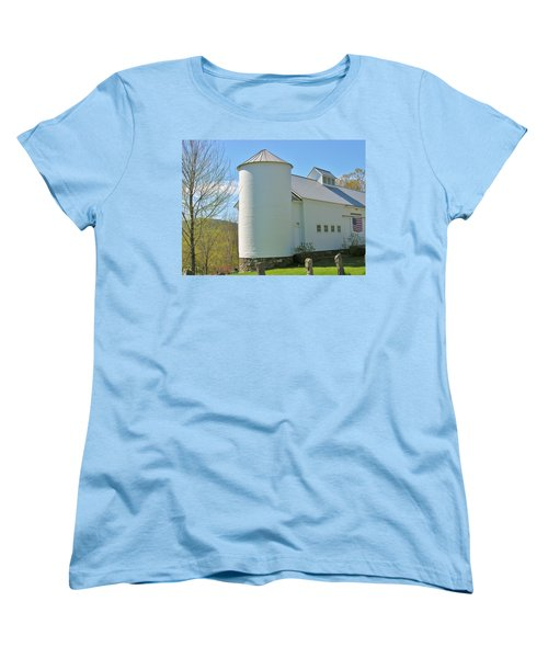 Women's T-Shirt (Standard Cut) featuring the photograph Vermont Silo And Barn  by Sherman Perry