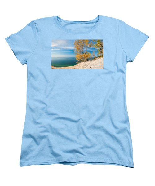 Sleeping Bear Dunes Vista 001 Women's T-Shirt (Standard Cut) by Larry Carr