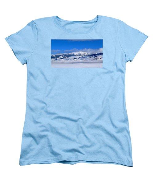 Women's T-Shirt (Standard Cut) featuring the photograph Sleeping Indian by Eric Tressler