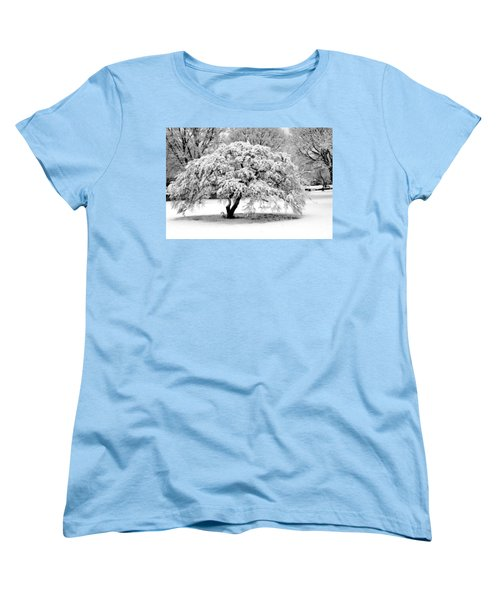 Snow In Connecticut Women's T-Shirt (Standard Cut) by John Scates