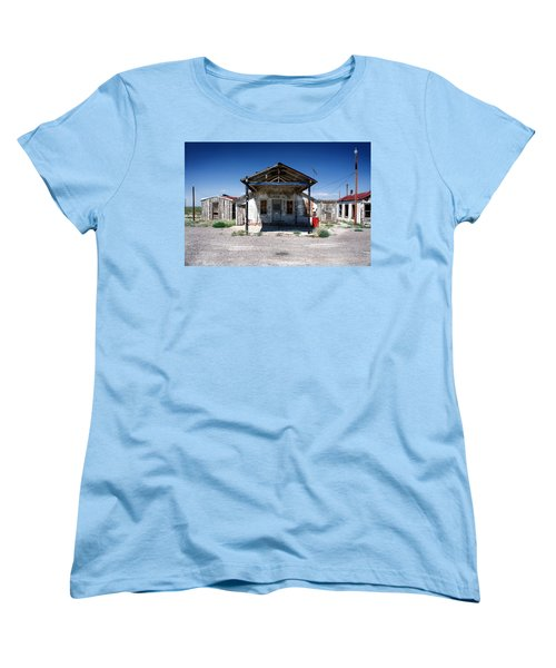 Women's T-Shirt (Standard Cut) featuring the photograph Somewhere On The Old Pecos Highway Number 4 by Lon Casler Bixby