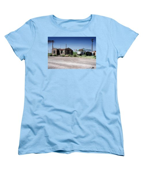 Women's T-Shirt (Standard Cut) featuring the photograph Somewhere On The Old Pecos Highway Number 8 by Lon Casler Bixby