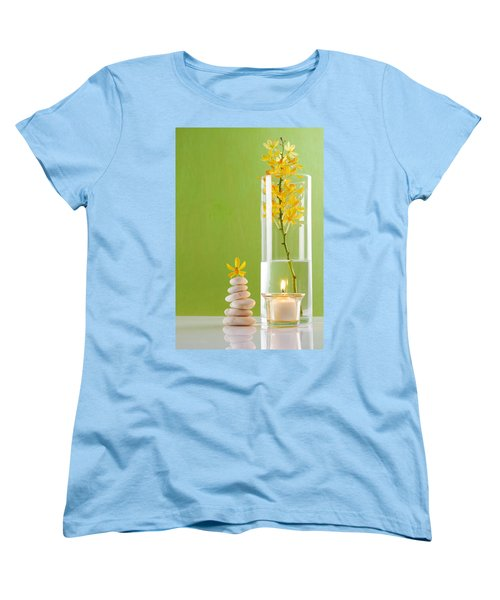 Spa Concepts With Green Background Women's T-Shirt (Standard Cut) by Atiketta Sangasaeng