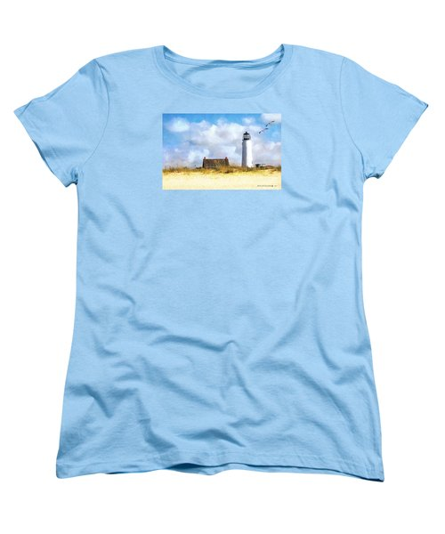 Women's T-Shirt (Standard Cut) featuring the photograph St. George Island Lighthouse by Rhonda Strickland