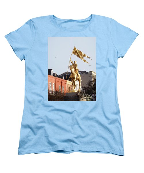 Women's T-Shirt (Standard Cut) featuring the photograph St. Joan At Dawn by Alys Caviness-Gober