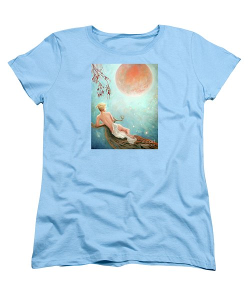 Strawberry Moon Nymph Women's T-Shirt (Standard Cut) by Michael Rock