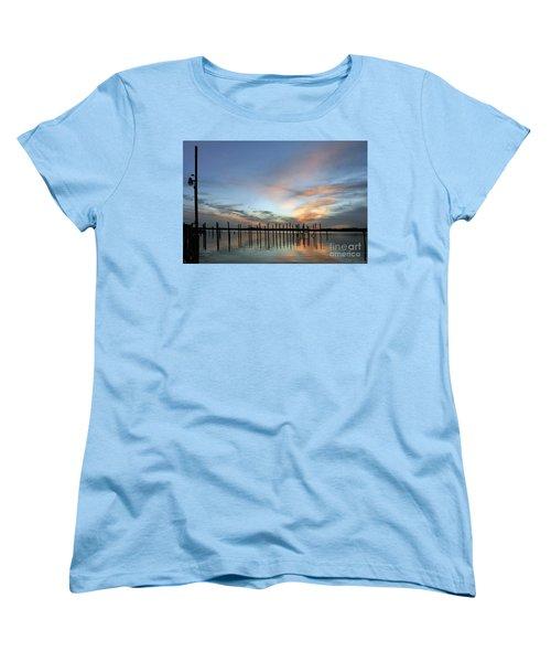 Women's T-Shirt (Standard Cut) featuring the photograph sunset marina Everglades by Dan Friend