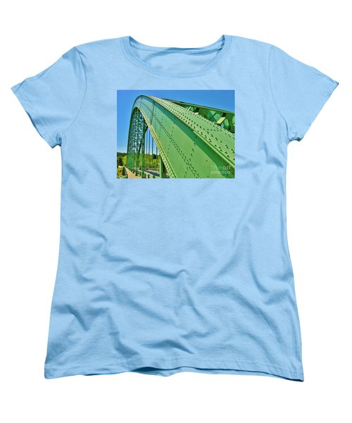 Women's T-Shirt (Standard Cut) featuring the photograph Suspension Bridge by Sherman Perry