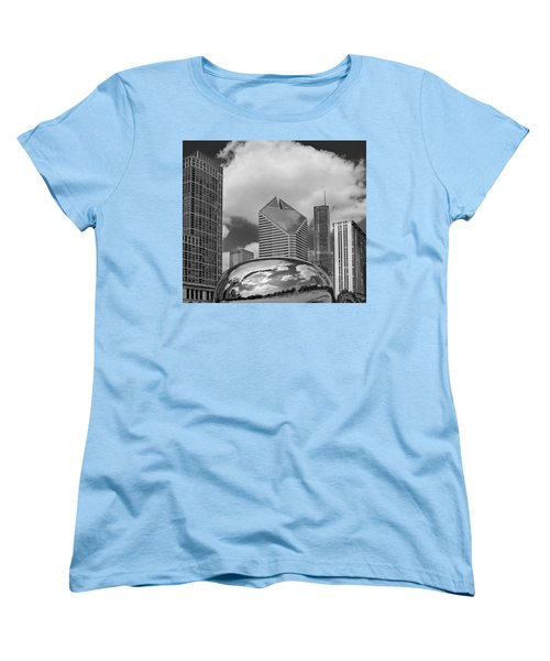 The Bean Chicago Illinois Women's T-Shirt (Standard Cut) by Dave Mills