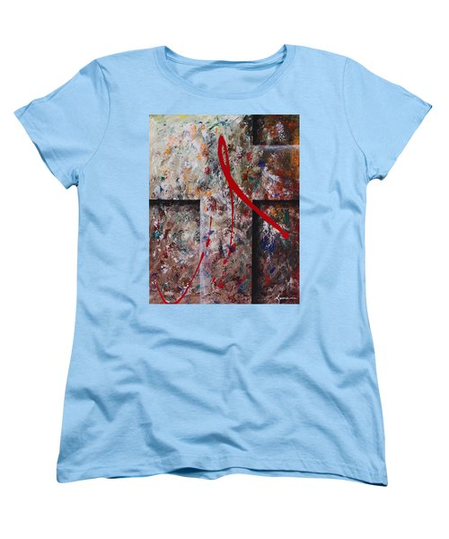 Women's T-Shirt (Standard Cut) featuring the painting The Greatest Love by Kume Bryant