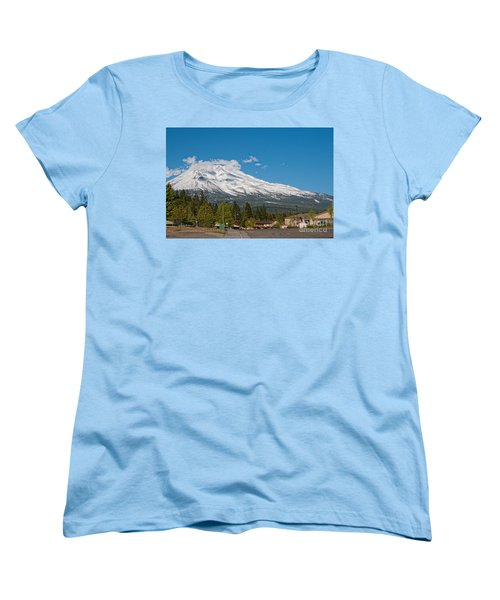 The Heart Of Mount Shasta Women's T-Shirt (Standard Cut) by Carol Ailles