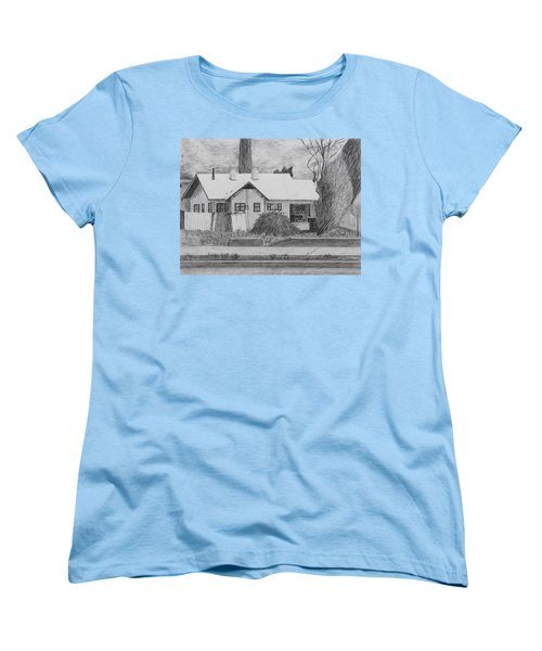 Women's T-Shirt (Standard Cut) featuring the drawing The House Across by Kume Bryant