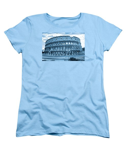 Women's T-Shirt (Standard Cut) featuring the photograph The Majestic Coliseum by Luciano Mortula