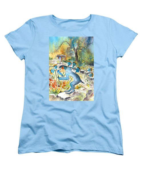 The Minotaur In Knossos Women's T-Shirt (Standard Cut) by Miki De Goodaboom
