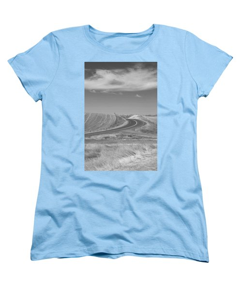 Women's T-Shirt (Standard Cut) featuring the photograph The Quiet Road by Kathleen Grace