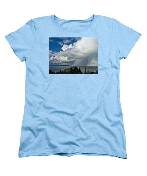 Women's T-Shirt (Standard Cut) featuring the photograph The Wall by David Gleeson