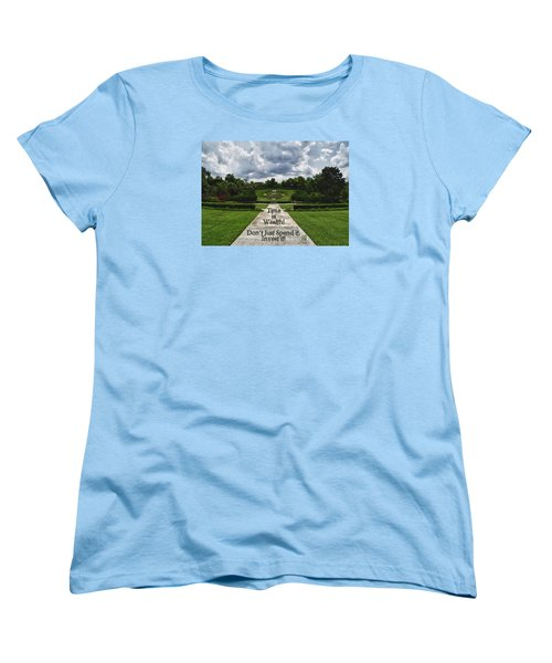 Women's T-Shirt (Standard Cut) featuring the photograph Time Is Wealth by Barbara Middleton
